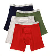 Fruit Of The Loom Big Man Core 100% Cotton Boxer Briefs - 4 Pack 4BB76CX