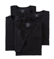 Fruit Of The Loom Big Man Core 100% Cotton Black Pocket Tee - 4 Pack 4P3362X