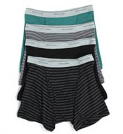 Fruit Of The Loom Stripe/Solid Assorted Trunks - 4 Pack 4TR4617