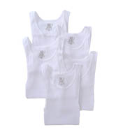 Fruit Of The Loom Mens Core 100% Cotton White A-Shirts - 5 Pack 5P2501