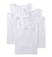 Fruit Of The Loom Mens Core 100% Cotton V-Neck T-Shirts - 5 Pack 5P2525V
