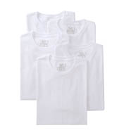 Fruit Of The Loom Mens Core 100% Cotton Crew White T-Shirts - 5 Pack 5P2727
