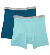 Fruit Of The Loom Big Man's Assorted Cotton Boxer Briefs - 2 Pack EL7CXBM