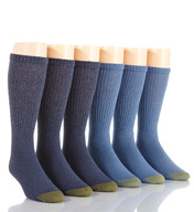 Gold Toe Cushioned Cotton Crew Socks - 6 Pack 656S