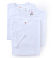 Hanes Original Cotton White Crew Neck T-Shirts - 3 Pack 2135