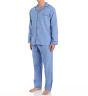 Hanes Tall Man Classics Broadcloth Woven Pajama Set 4016T