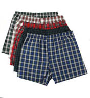 Hanes Premium Cotton Woven Tartan Boxers - 5 Pack 745BP5