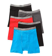 Hanes Premium Cotton Assorted Boxer Briefs- 5 Pack 76925F