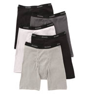 Hanes Premium Cotton Long Leg Boxer Briefs - 5 Pack 76925L