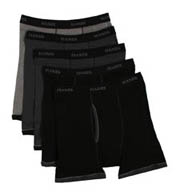 Hanes Premium Cotton Ringer Boxer Briefs - 5 Pack 7694R5