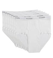 Hanes Premium Cotton Full-Cut White Briefs - 7 Pack 7764W7