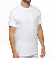 Hanes Premium Cotton White Crew Neck T-Shirts - 3 Pack 7870W3