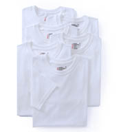 Hanes Premium Cotton White Crew Neck T-Shirts - 6 Pack 7870W6