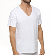 Hanes Premium Cotton White V-Neck T-Shirts - 3 Pack 7880W3