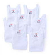 Hanes Premium Cotton White A-Shirts - 7 Pack 7990W7