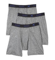 Hanes X-Temp Poly Boxer Brief- 3 Pack UPB1B3