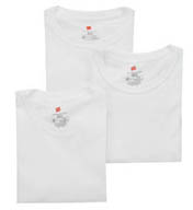 Hanes White X-TEMP Crewneck T-Shirts - 3 Pack UTT1W3