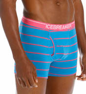 Icebreaker Anatomica Merino Striped Boxer Brief with Fly 100807