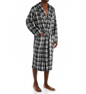 Jockey Matte Silky Plaid Fleece Robe 107JY