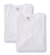 Jockey Big Man 100% Cotton V-Neck - 2 Pack 9986