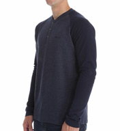 Kenneth Cole Punch Knit Sleep Henley RNM1407