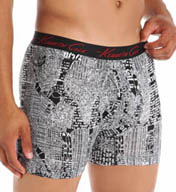 Kenneth Cole Roosevelt Red City Plans Print Boxer Brief RNM3131