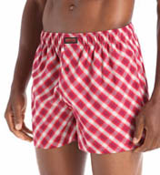 Kenneth Cole Reaction Fashion Plaid Cotton Woven Boxer REM3229
