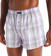 Kenneth Cole Reaction Fashion Plaid Cotton Woven Boxer REM3232