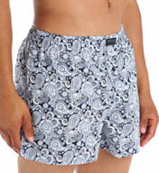 Kenneth Cole Reaction Blue York Micro Paisley Print Woven Boxer REM3243