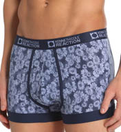Kenneth Cole Reaction Floral Distress Print Cotton Spandex Trunk REM5418