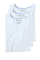 Kenneth Cole Reaction Base V-Neck T-Shirts - 3 Pack REM8801
