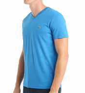 Lacoste 100% Pima Cotton V-Neck Short Sleeve T-Shirt TH6604-51