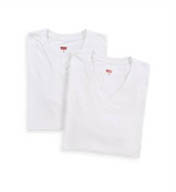 Levis 200-Series Cotton Stretch V-Neck T-Shirts - 2 Pack LV210