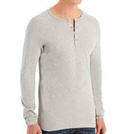 Levis 300-Series Cotton Ribbed Long Sleeve Henley Shirt LV318
