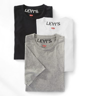 Levis 100-Series Cotton Crew Neck T-Shirts - 3 Pack ULV10005