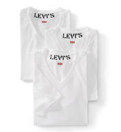 Levis 100-Series Cotton V-Neck T-Shirts - 3 Pack ULV10010