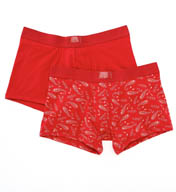 Levis Cotton Spandex Solid and Printed Trunk - 2 Pack ULV20023