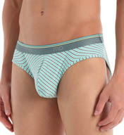 Male Power Heather Stripe Lo Rise Bikini 490-208