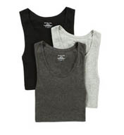 Michael Kors Soft Touch Cotton Modal A-Shirt Tank Top 3-Pack 09M0910