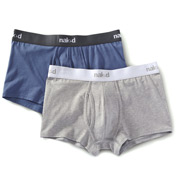 Naked Essentials Cotton Stretch Trunks - 2 Pack M110100