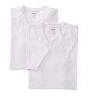 Naked Essentials Cotton Stretch V-Neck - 2 Pack M140100