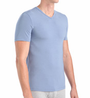 Naked Luxury Micromodal Stretch V-Neck M140500