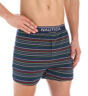 Nautica 100% Cotton Jersey Multi Striped Knit Boxer KB00S5