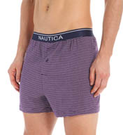 Nautica 100% Cotton Jersey Striped Knit Boxer KB01S5