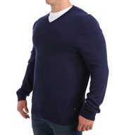 Nautica Big and Tall Cotton Modal V-Neck Sweater N53603