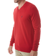 Nautica Cotton Modal V-Neck Sweater S53700