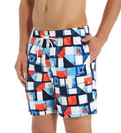 Nautica Abstract Print Swim Trunk T51218