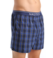 Nautica 100% Cotton Plaid Woven Boxer WB0-FB