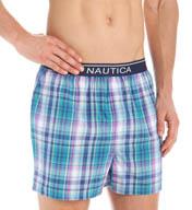 Nautica 100% Cotton Multi Plaid Woven Boxer WB01S5