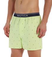 Nautica 100% Cotton Sailboat Print Woven Boxer WB04S5